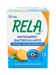 Rela Tabs UUSI Appelsiini + D3 30 tabl